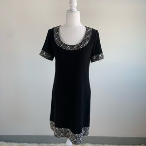 Ronni Nicole Vintage Black and White Dress